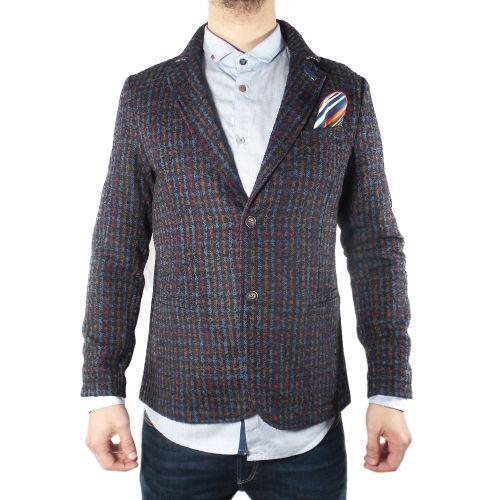 koon ALEXA-SR20 BLU-OCRA-ROSSO giacca uomo multicolor