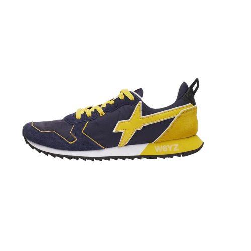 W6YZ JETM 1C67 scarpe uomo blu e giallo