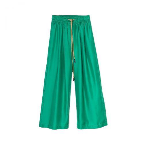 alysi twill seta ampio donna pantaloni 101149