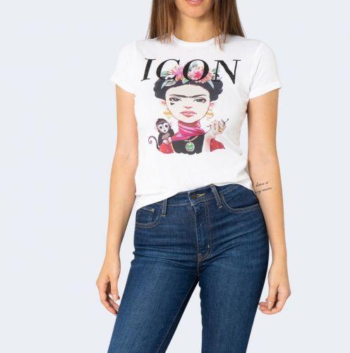 hiconika t-shirt donna bianco LADY DG606
