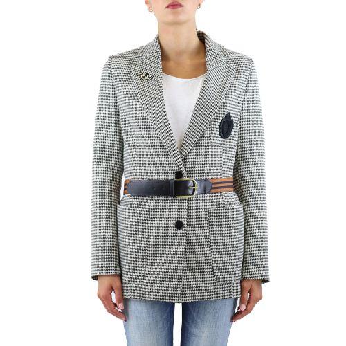 vicolo giacca donna nero bianco TX0839