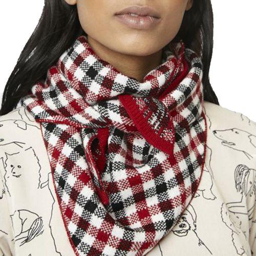 compania fantastica WI19PRI16P 000058 sciarpa donna rosso e nero