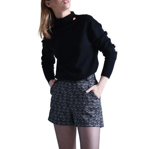 molly bracken maglia donna nero E1125A21