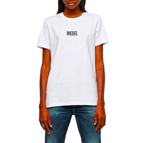 diesel t-shirt donna bianco T-SILY-ECOSMALLOGO