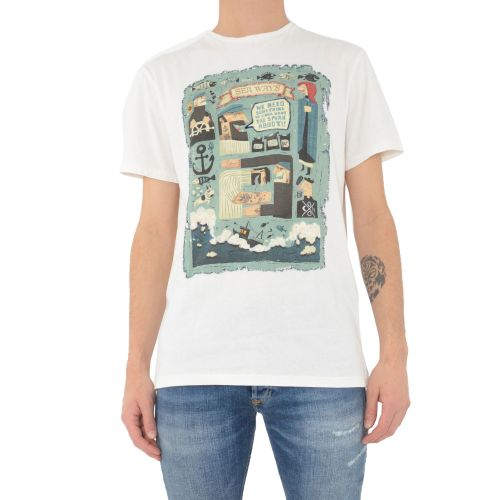 koon 6681 U t-shirt uomo bianco