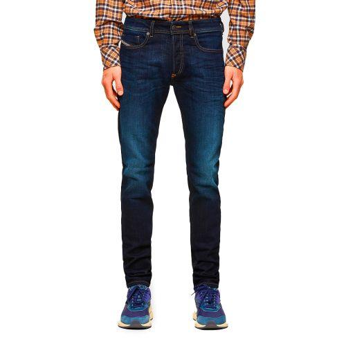 diesel jeans uomo denim scuro SLEENKER-X