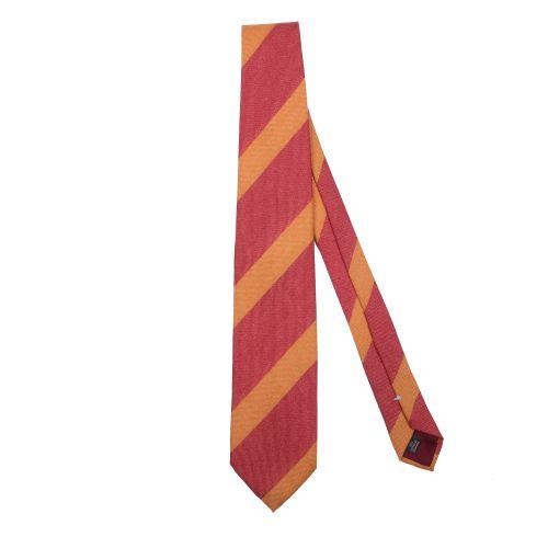 Franco Bassi Uomo Cravatta Arancione Rosso