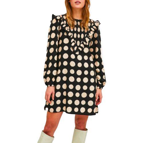 compania fantastica abito donna nero cipria FA21SHE54