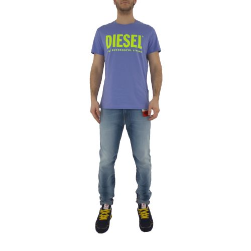 diesel T-DIEGO-LOGO 0AAXJ 64F t-shirt uomo viola