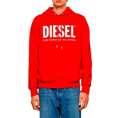 diesel felpa uomo rosso S-GIRK-HOOD-ECOLOGO