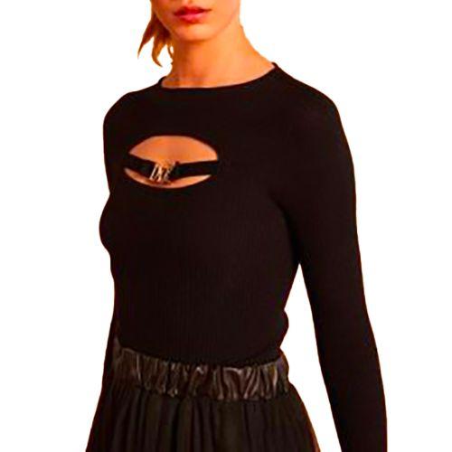 denny rose maglia donna nero 121DD50009