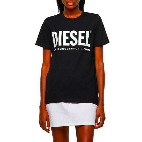 diesel t-shirt donna nero T-SILY-ECOLOGO