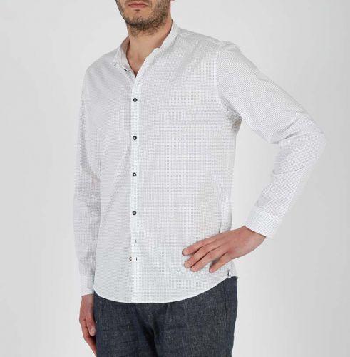 berna M 210162 30 camicia uomo bianco