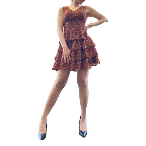 denny rose 111ND15003 118919-01 abito donna  e marrone