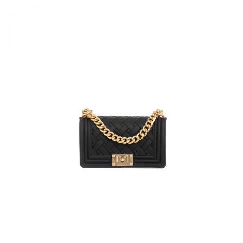 marc ellis FLAT BRAID S NERO/GOLD borsa donna nero e oro
