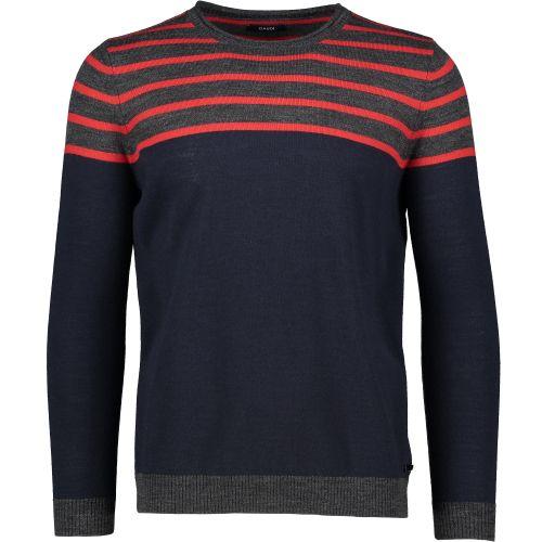 gaudi maglia uomo grigio rosso 121GU53038