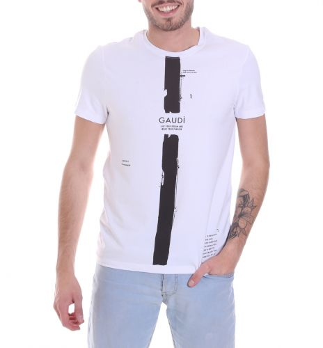 gaudi 021GU64035 2100 t-shirt uomo bianco