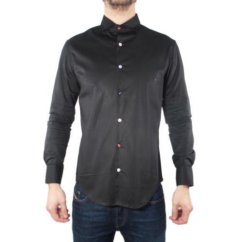 koon camicia uomo nero N877-BOTT