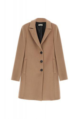 please K493ENATAS 1806 cappotto donna cammello