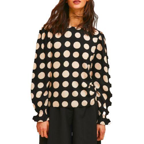 compania fantastica blusa donna nero cipria FA21SHE56