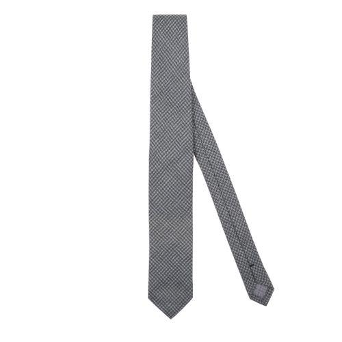 Marzullo Uomo Cravatta Verde Grigio