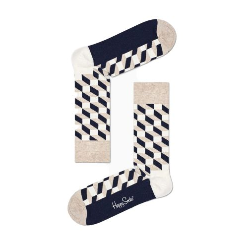 happy socks FILLED OPTIC SOCK/U 8000 calzini uomo multicolor