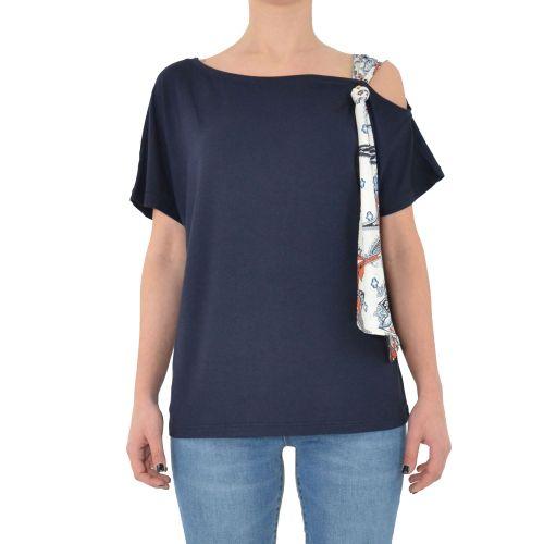 gaudi 111BD64061 2800 t-shirt donna blu