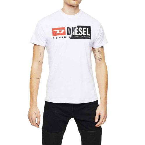 diesel T-DIEGO-CUTY 0091A 100 t-shirt uomo bianco