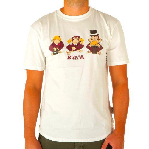berna t-shirt uomo panna M 215162