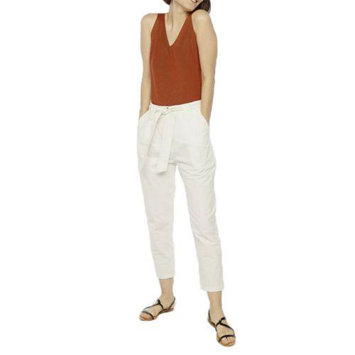 compania fantastica SS20HAN15 BIANCO pantalone donna bianco
