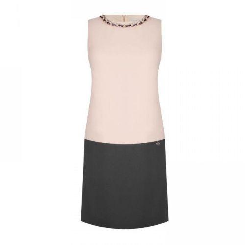 rinascimento CFC0099958003 B456 abito donna grigio e rosa