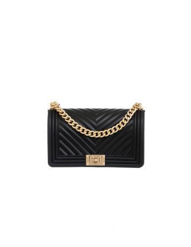 marc ellis FLAT M NERO/GOLD borsa donna nero e oro