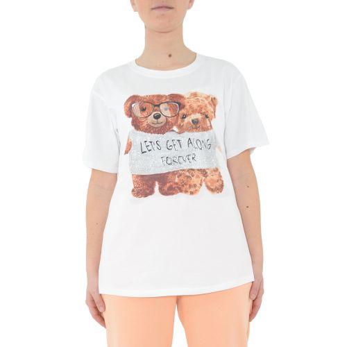 miss love 8213 BIANCO t-shirt donna bianco