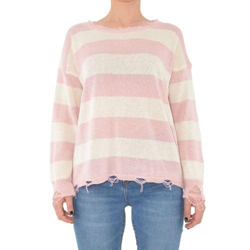 miss love 307 PANNA/ROSA maglia donna panna e rosa