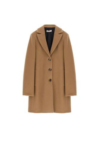 please cappotto donna cammello K493INATAS
