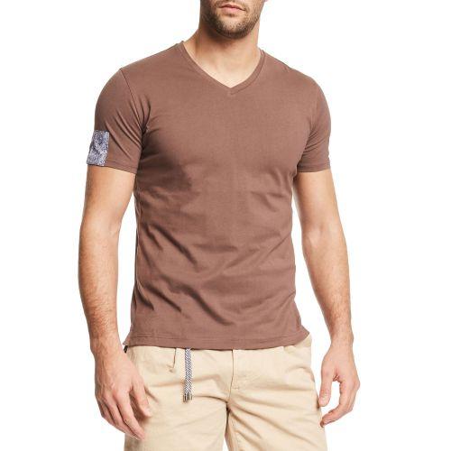 gaudi t-shirt uomo marrone 111GU64040