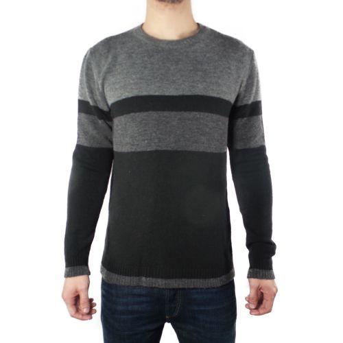diktat DK87089 NERO/GRIGIO maglia uomo nero e grigio