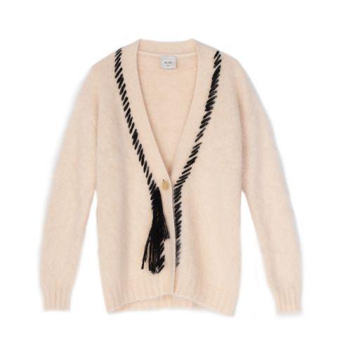 alysi cardigan angora tricot donna maglia 251415