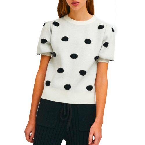 compania fantastica maglia donna panna nero FA21ETH05