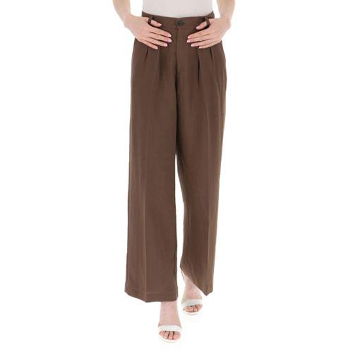 vicolo pantalone donna cioccolato TH1793