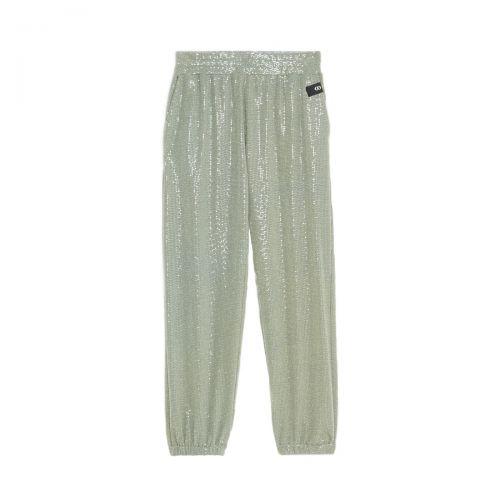 ottod'ame jogger con applicazioni scintillanti donna pantaloni DP8706