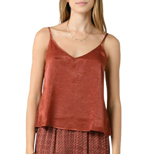 molly bracken G811E21 BRICK RED top donna rosso