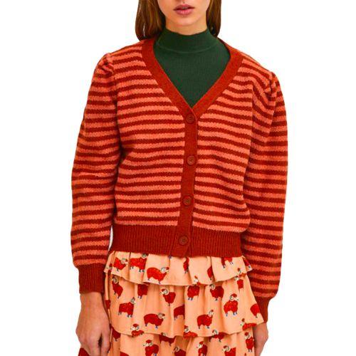 compania fantastica cardigan donna cuoio arancio FA21DEJ18