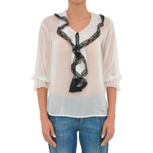 liu-jo tunica amandine donna colore bianco lana