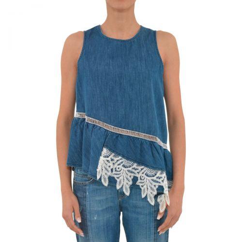 liu-jo top aghast donna colore denim blue