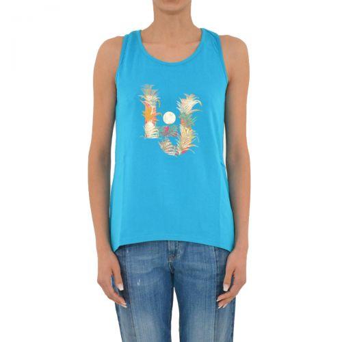 liu-jo top jersey/tavola donna colore blu caraibi