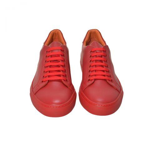 Bruno Antolini Sneakers Uomo in Pelle di Vitello Colore Rosso 97621