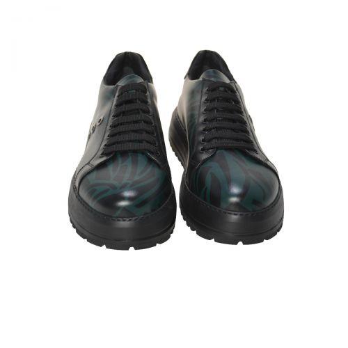 Bruno Antolini Sneakers Uomo in Pelle di Vitello Colore Verde Nero 97620
