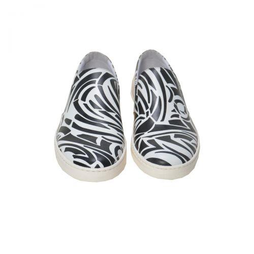 Bruno Antolini Sneakers Uomo in Pelle di Vitello Colore Bianco Nero 38551 con fondo Alce