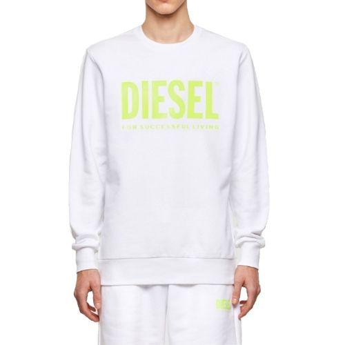 diesel S-GIR-DIVISION-LOGO 0BAWT 100A felpa uomo bianco